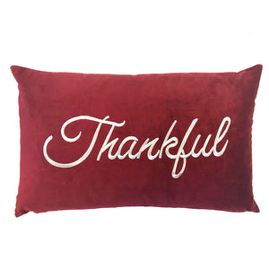 Thankful Pillow | Size 16X26 | Color Red