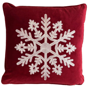 Twinkle Pillows | Size 18X18 | Color Red/White - Rodeo Home