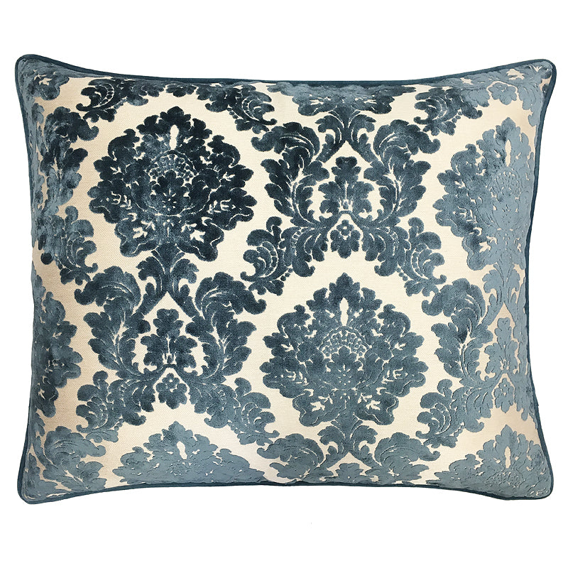Valentino Pillow | Size 20X24 | Color Ocean
