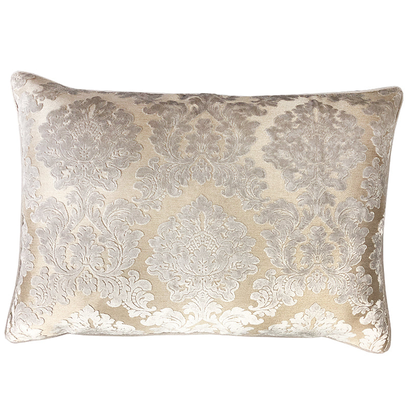 Valentino Pillow | Size 18x26 | Color Silver