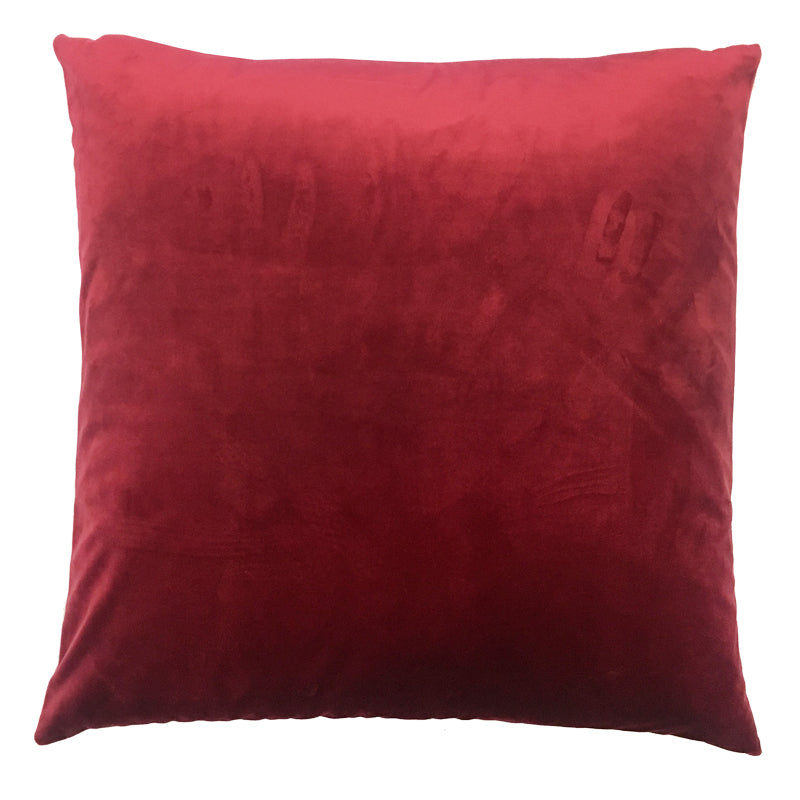 Velluto 2 Pack Pillows | Size 20X20 | Color Red