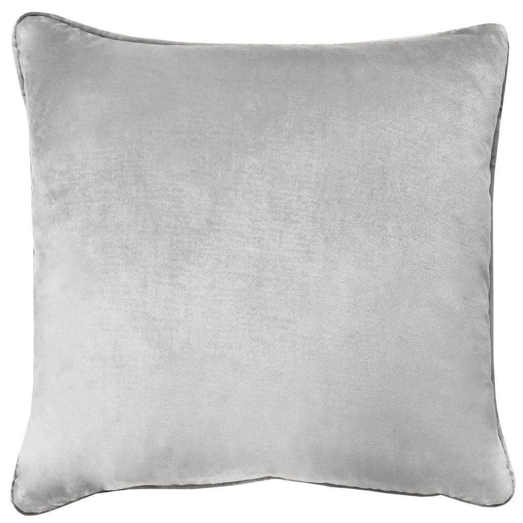 Velluto Pillows | Size 20X20 | Color Silver