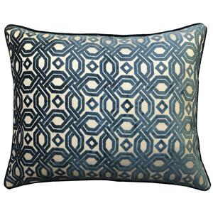 Zachary Pillow | Size 18X22 | Color Ocean