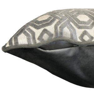 Zachary Pillow | Size 18X22 | Color Gunmetal