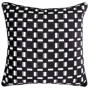 Zeppelin Pillow | Size 23X23 | Color Black