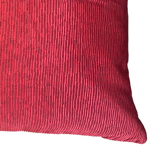 Plateau Pillow | Size 22X22 | Color Cranberry