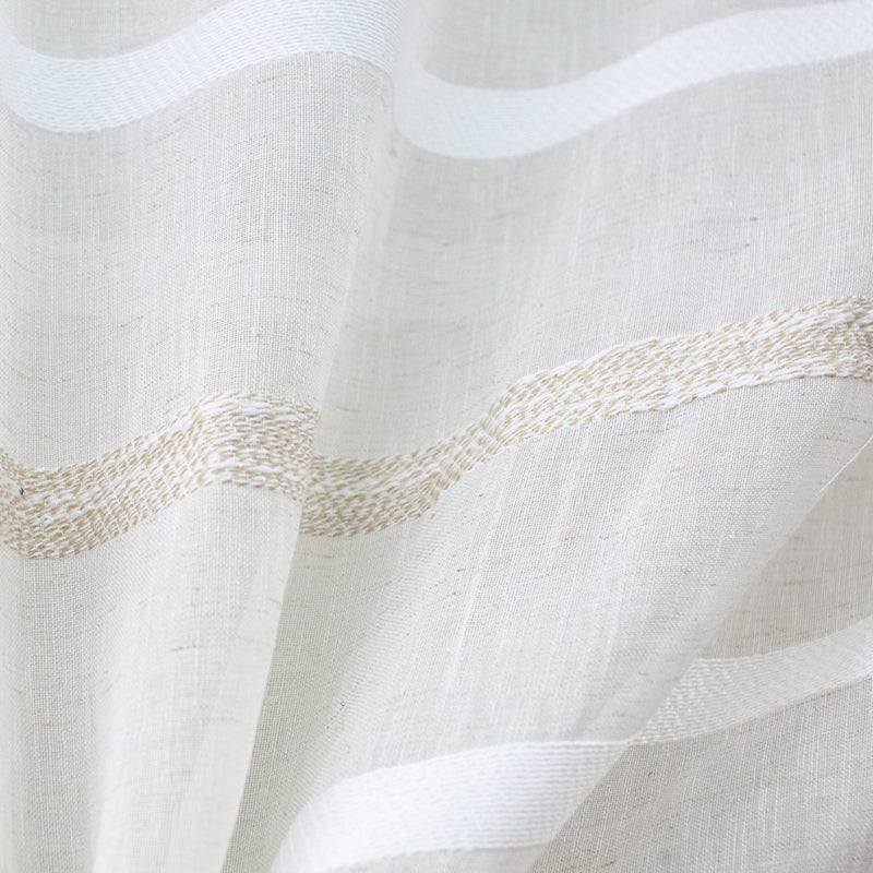 Tess Fabric | Embroidered Stripe Sheer