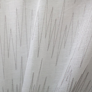 Zeek Fabric | Zig Zag Embroidered Sheer