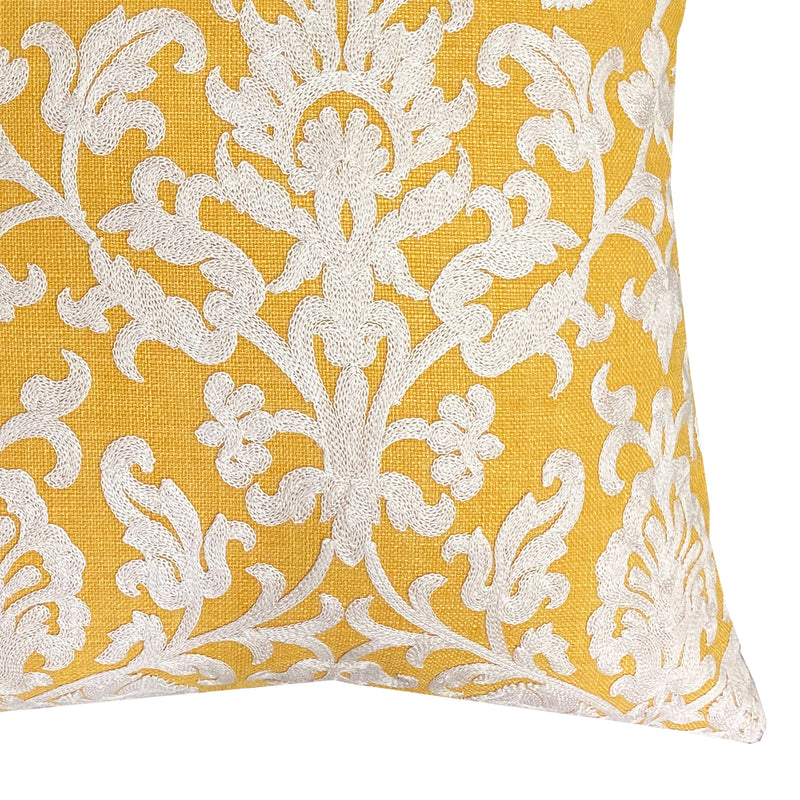 Demi Pillows | Size 20X20 | Color Canary