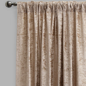Calisi Set of 2 Crushed Velvet Curtain Panels | Available Sizes 54X84 & 54X96 | Color Latte