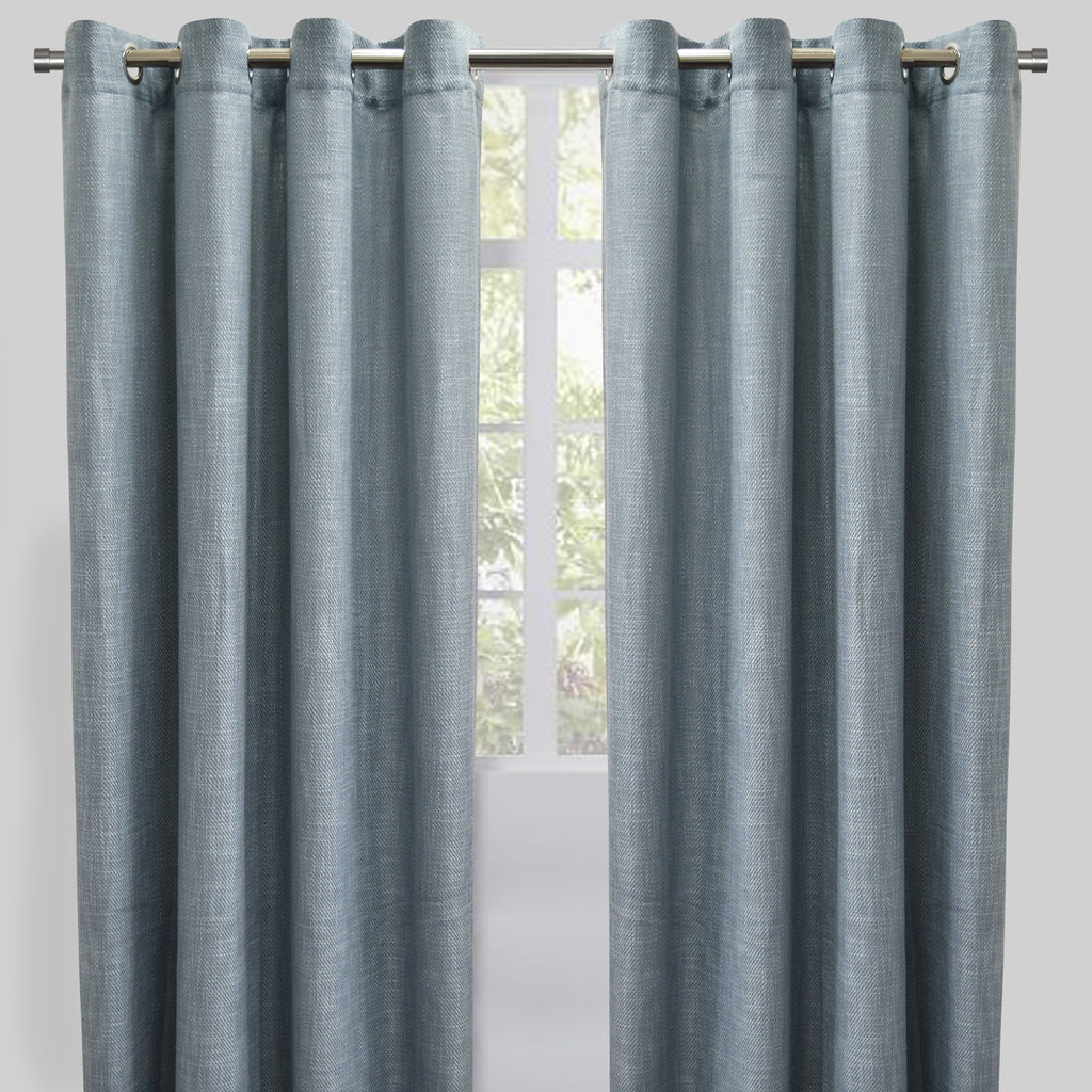 Raider Set of 2 Linen Look Curtain Panels | Size 54X96 | Color Sky