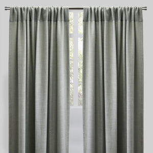 Reno Set of 2 Linen Look Curtain Panels | Size 54X96 | Color Teal