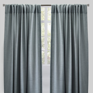 Reno Set of 2 Linen Look Curtain Panels | Size 54X96 | Color Ocean