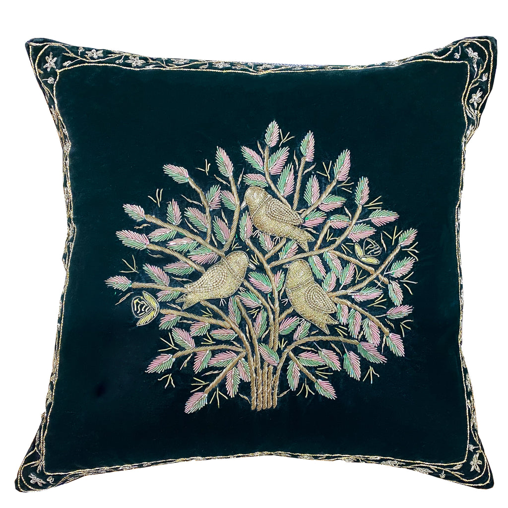 Indie Pillow Cover | Size 16X16 | Color Pine