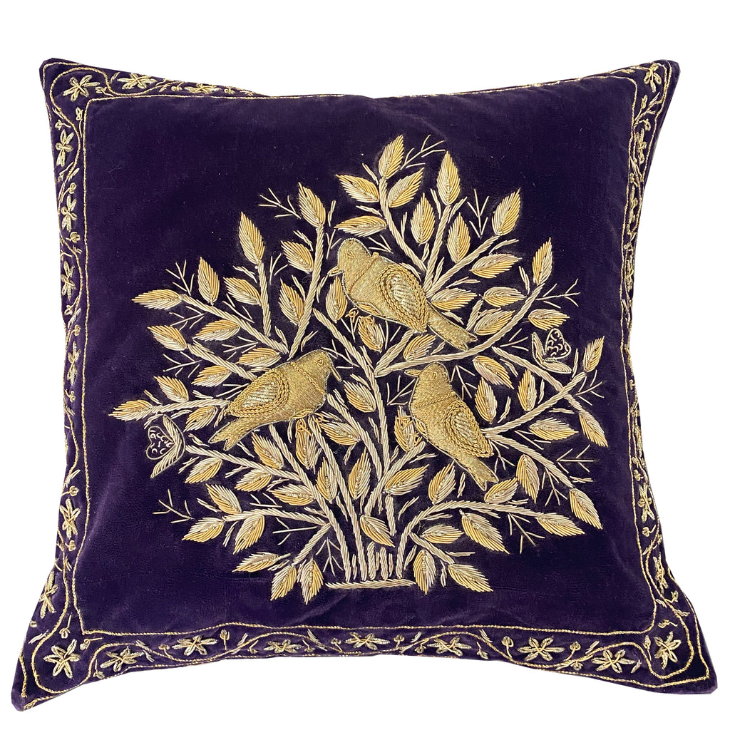 Indie Pillow Cover | Size 16X16 | Color Violet