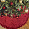 Alyssa Christmas Tree Skirt | Color Red