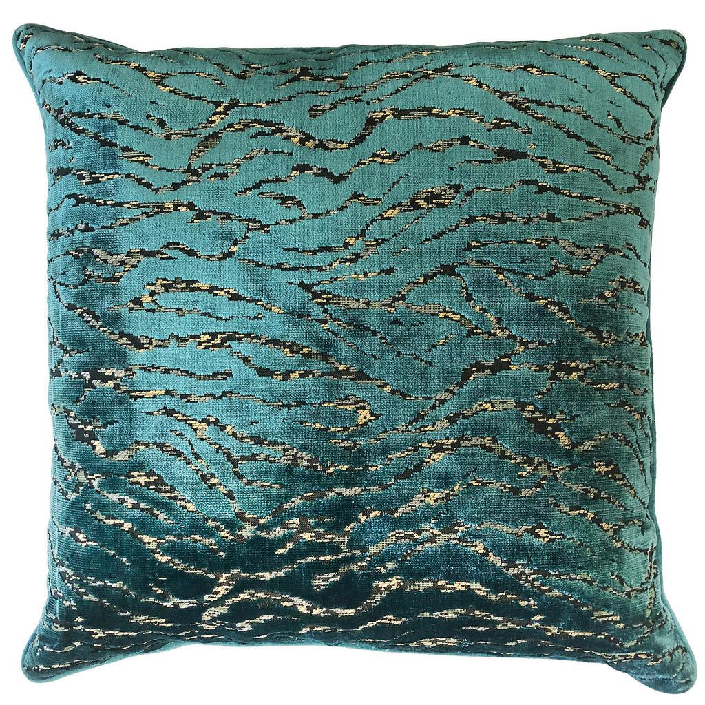 Empress Pillows | Size 23x23 | Color Cerulean