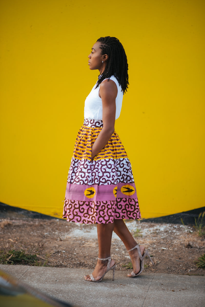 Custom Gathered Skirt- Olokose