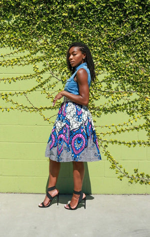 Custom Gathered Skirt - Nneka