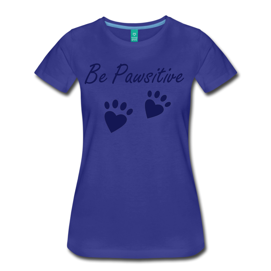Be Pawsitive - royal blue