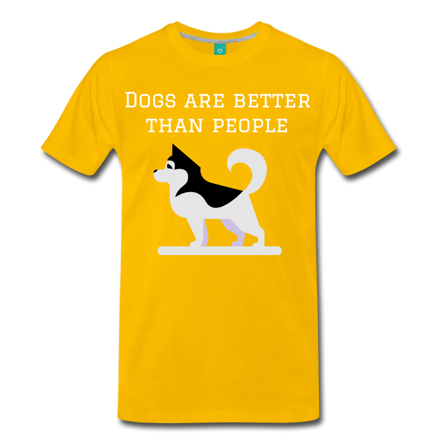 Dogs are better than people - sun yellow