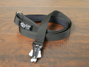 Black Flat Leash