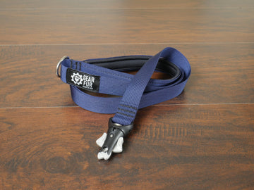 Navy Blue Flat Leash
