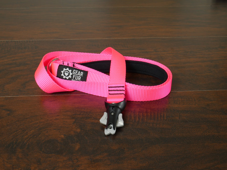 Pink Flat Double Leash