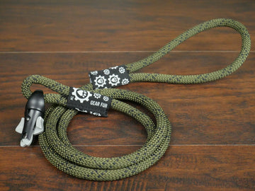 PRE-ORDER ONLY - Olive Drab Climbing Rope Double Leash