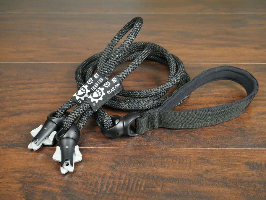 PRE-ORDER ONLY - Black Climbing Rope Double Leash