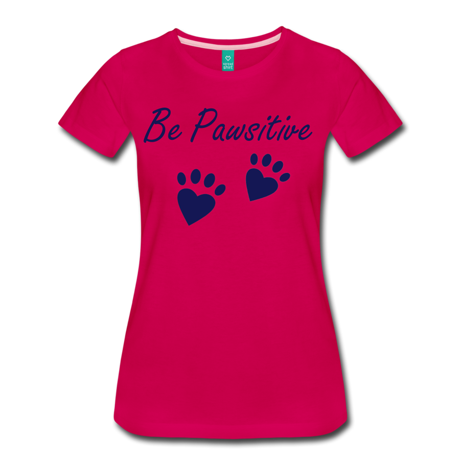 Be Pawsitive - dark pink