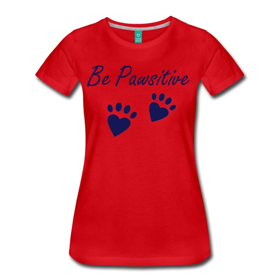 Be Pawsitive - red