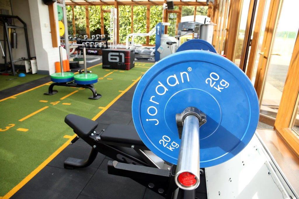 The newly installed Jordan Fitness gym equipment in the Norwich City Football Club Gym
