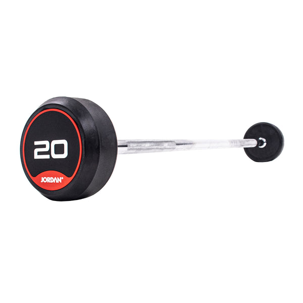 Classic Rubber Barbells - Straight Bars
