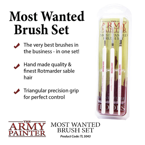 Starter Set - Wargamers Most Wanted Brush Set