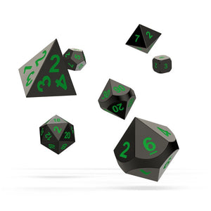 oakie doakie DICE RPG Set Metal Dice: Matrix (7)