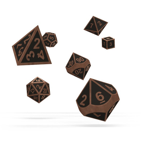 oakie doakie DICE RPG Set Metal Dice: Steampunk (7)