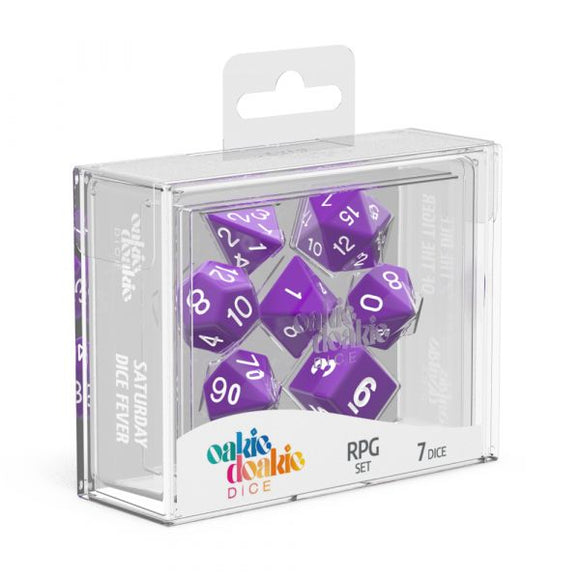 oakie doakie DICE RPG Set Solid: Purple (7)