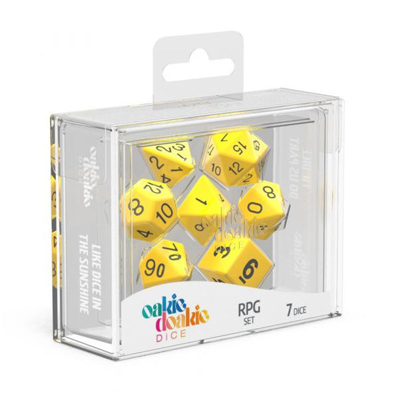 oakie doakie DICE RPG Set Solid: Yellow (7)