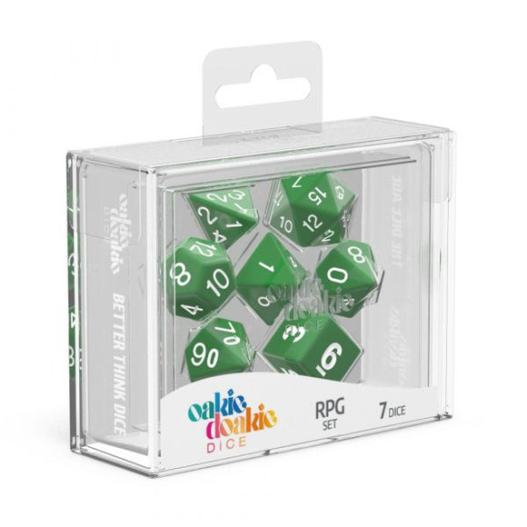 oakie doakie DICE RPG Set Solid: Green (7)