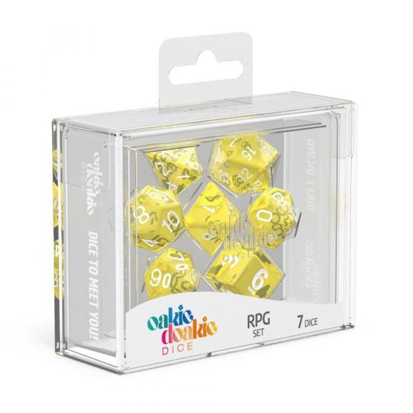 oakie doakie DICE RPG Set Translucent: Yellow (7)