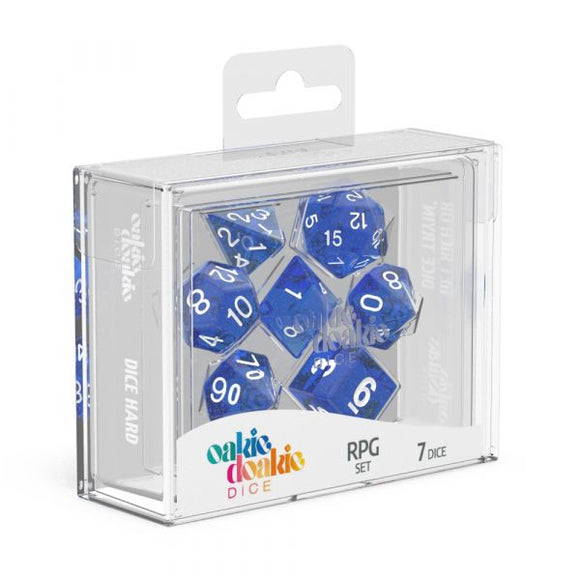 oakie doakie DICE RPG Set Speckled: Blue (7)