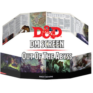 D&D Out of the Abyss - Dungeon Master Screen