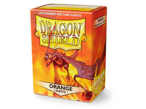 Dragon Shield Matte - Orange (100 ct. in box)