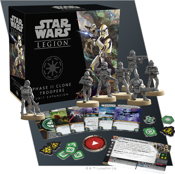 Star Wars Legion: Phase II Clone Troopers Unit Expansion *PRE-ORDER*