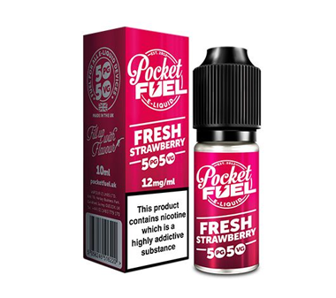 Pocket Fuel 50/50 10ml fresh strawberry