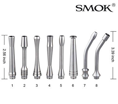 Smoktech stainless steel long pipe drip tips