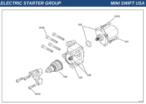 Top Kart USA - IAME Mini Swift Electric Starter Group