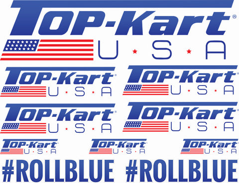 Top Kart USA Logo Sheet