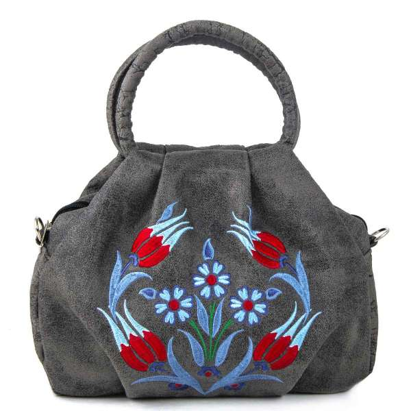 Tapestry Embroidered Bamboo Bag